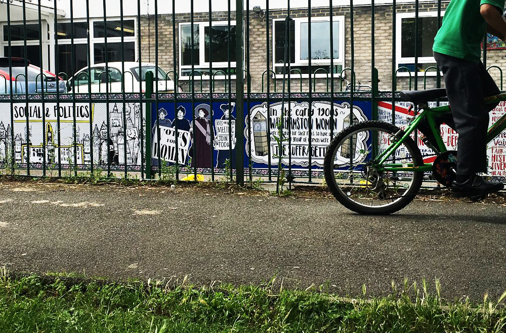 On the Move, Stoneydown Park Primary School mural