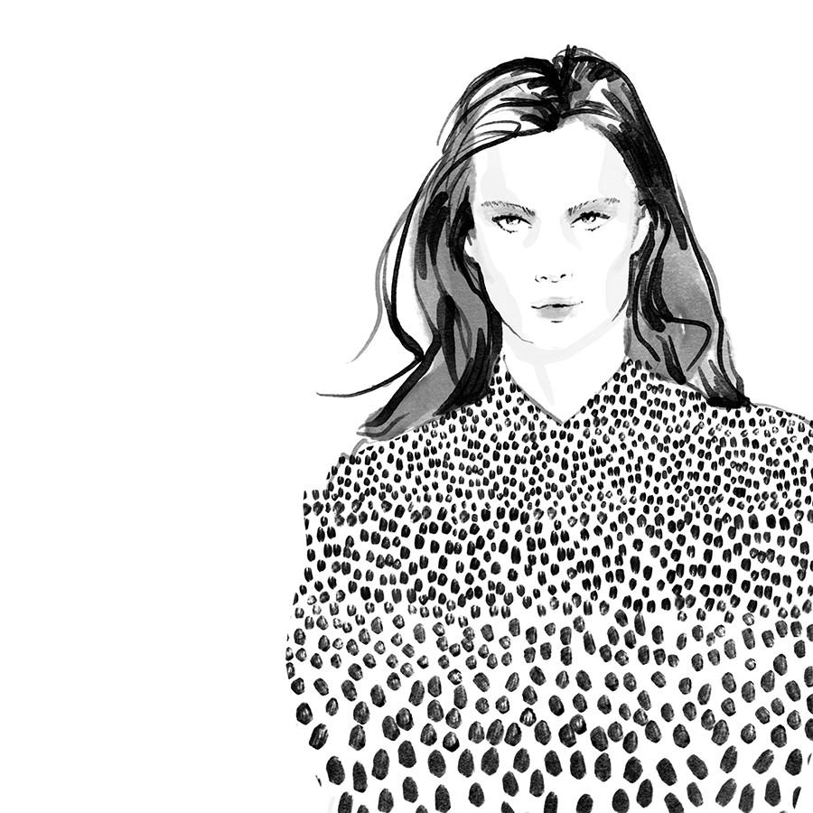 Inktober Fashion Illustrations 2017 day 1