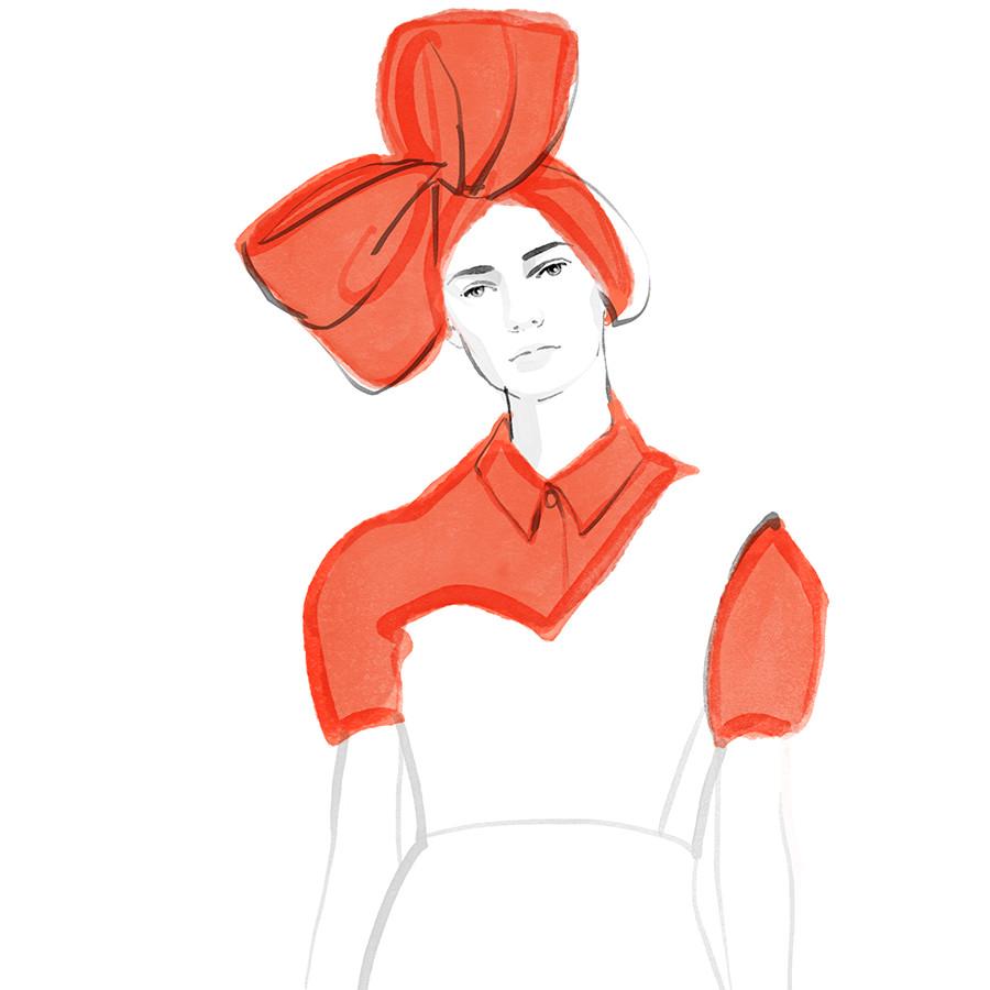 Inktober Fashion Illustrations 2017 day 6