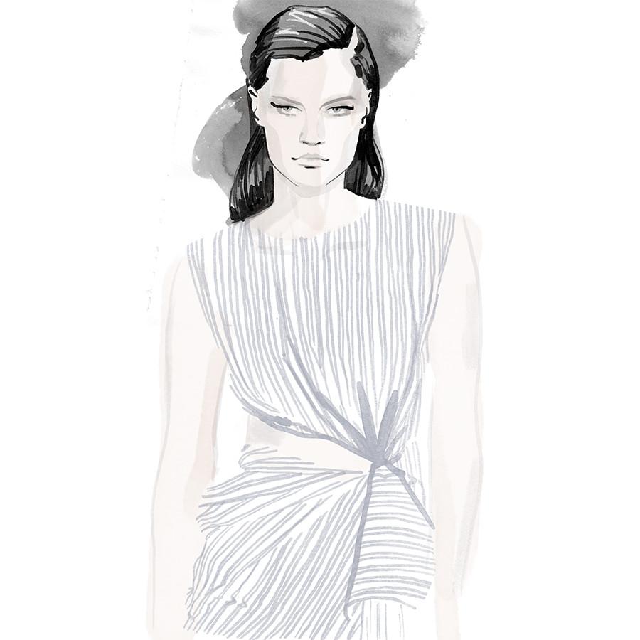 Inktober Fashion Illustrations 2017 day 7