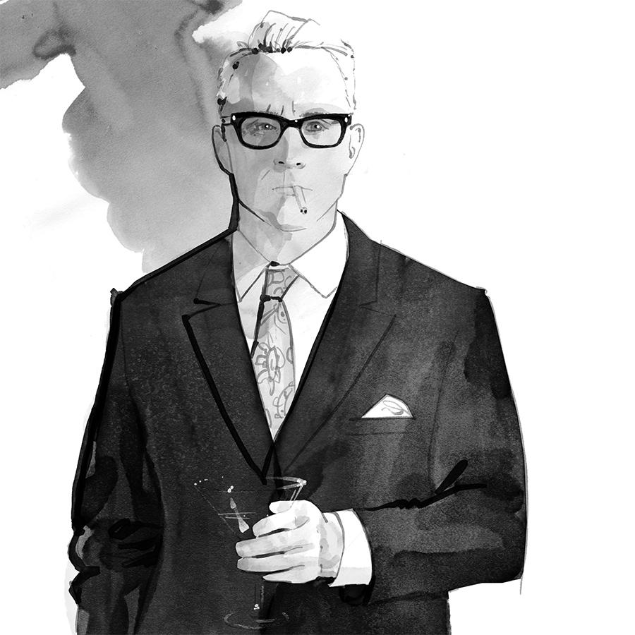 mad men illustrations day 23 for Facebook