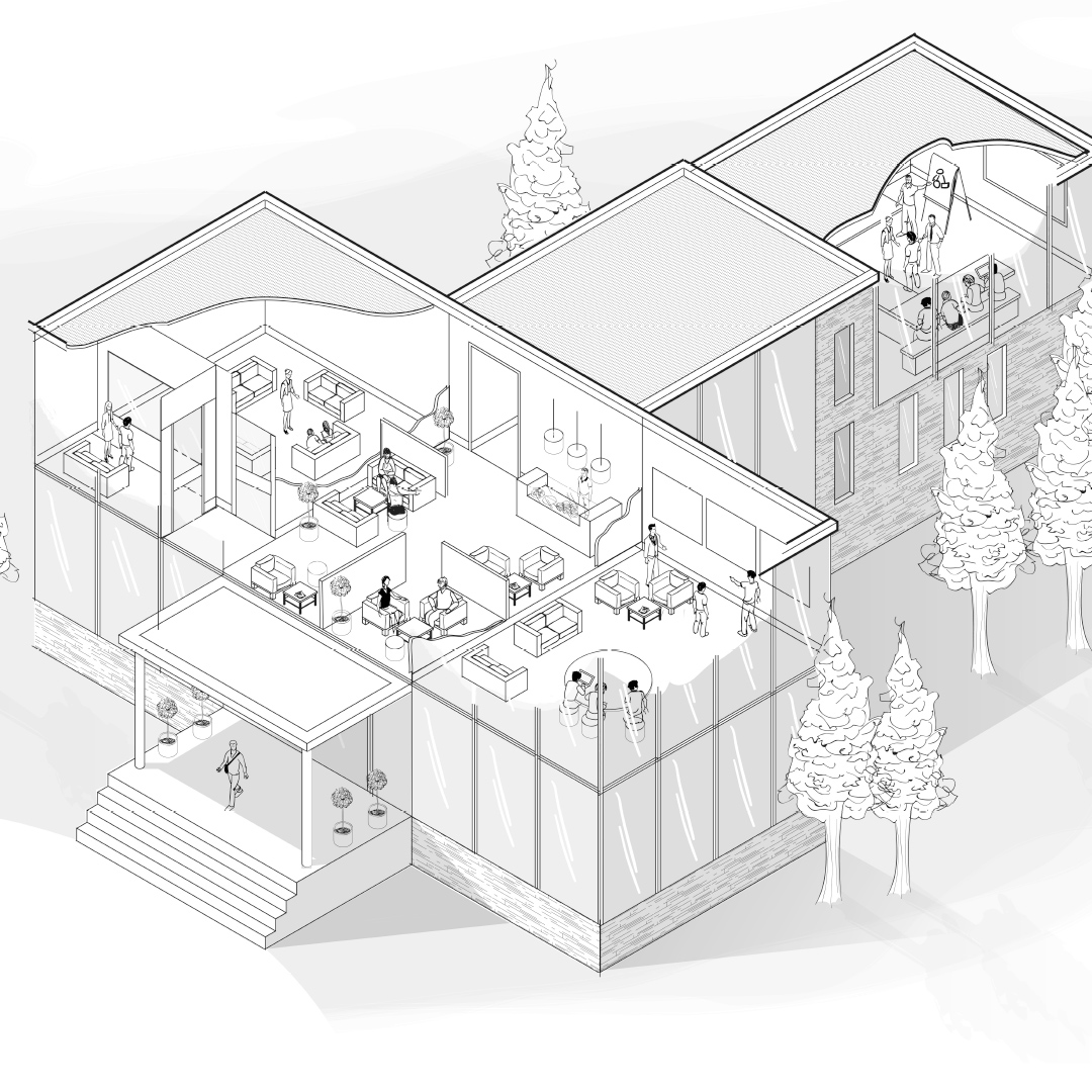 A 2d Visualisation of a training centre for a leading UK grocery retailer