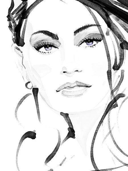 fashion illustration portrait